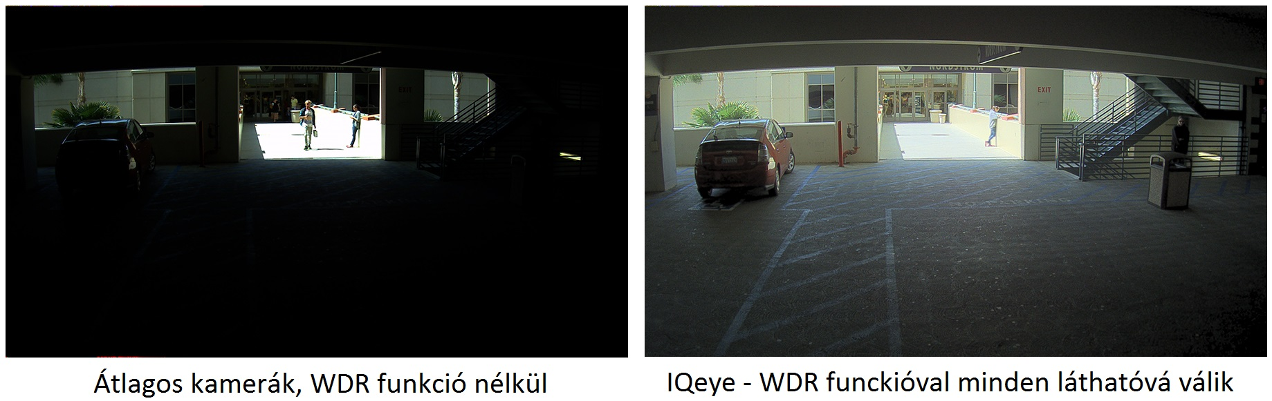 IQeye Megapixel IP Kamerák WDR funkcióbal