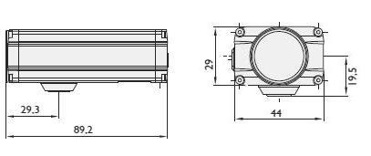 BASLE BIP kompakt méretű IP kamera méretei